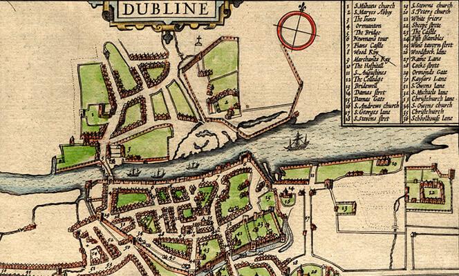 old Dublin map