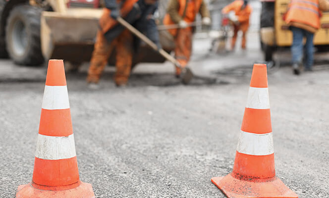 roadworks being carried out