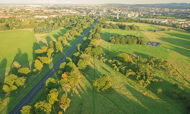 aerial view of Phoenix Park Dublin