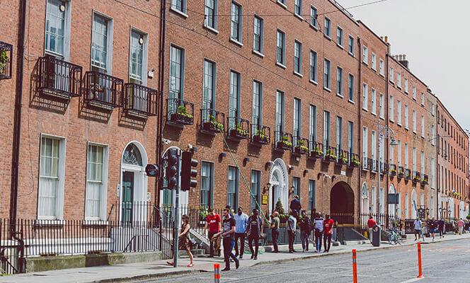 Georgian buildings in Dublin