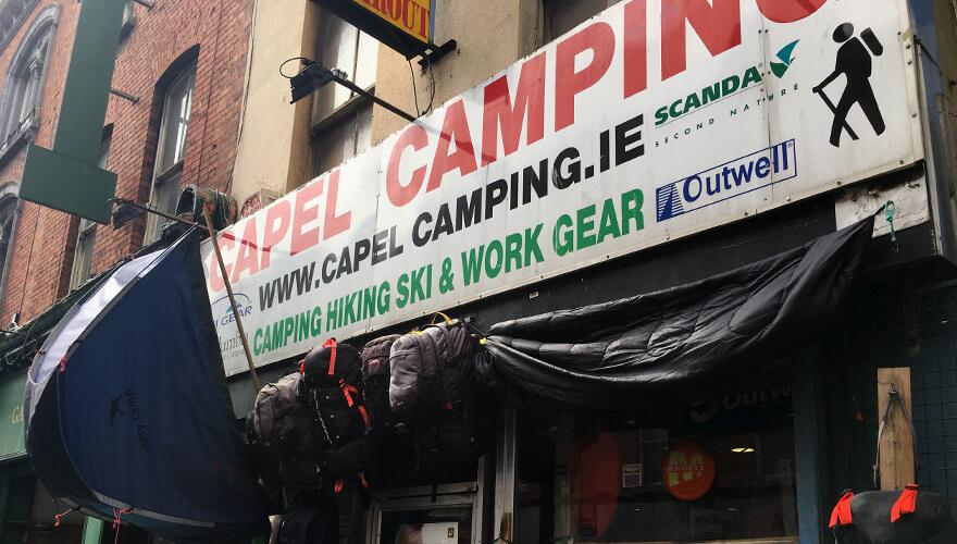Capel Camping shopfront