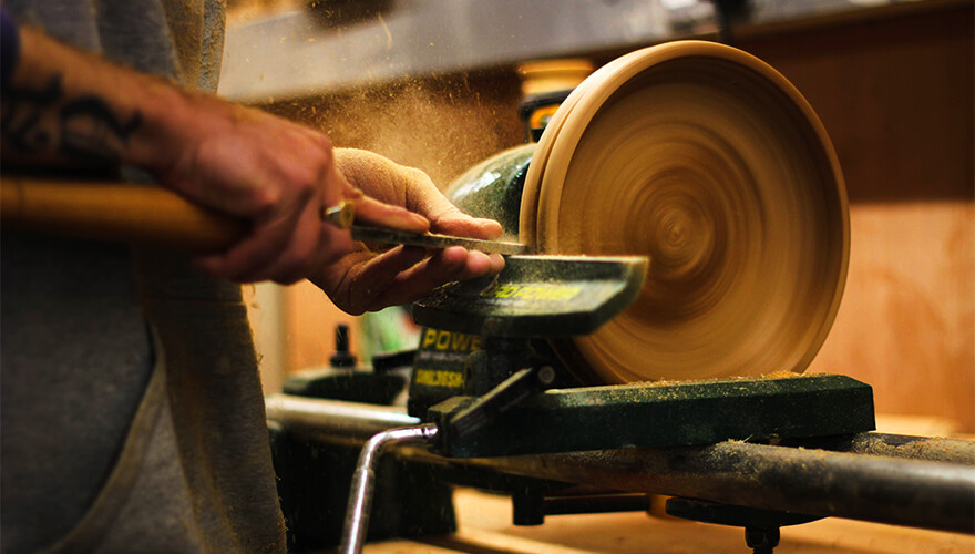 Wood-turning at Solas Project