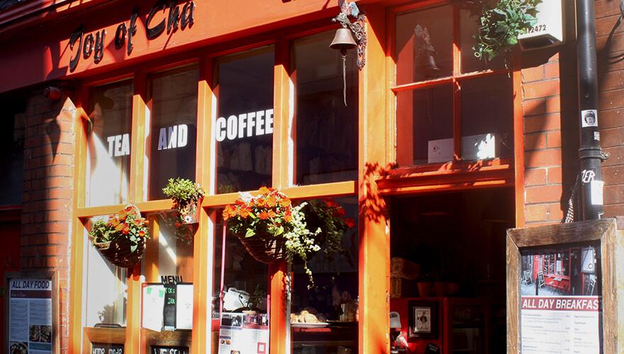 Shopfront of Joy of Cha, café bistro